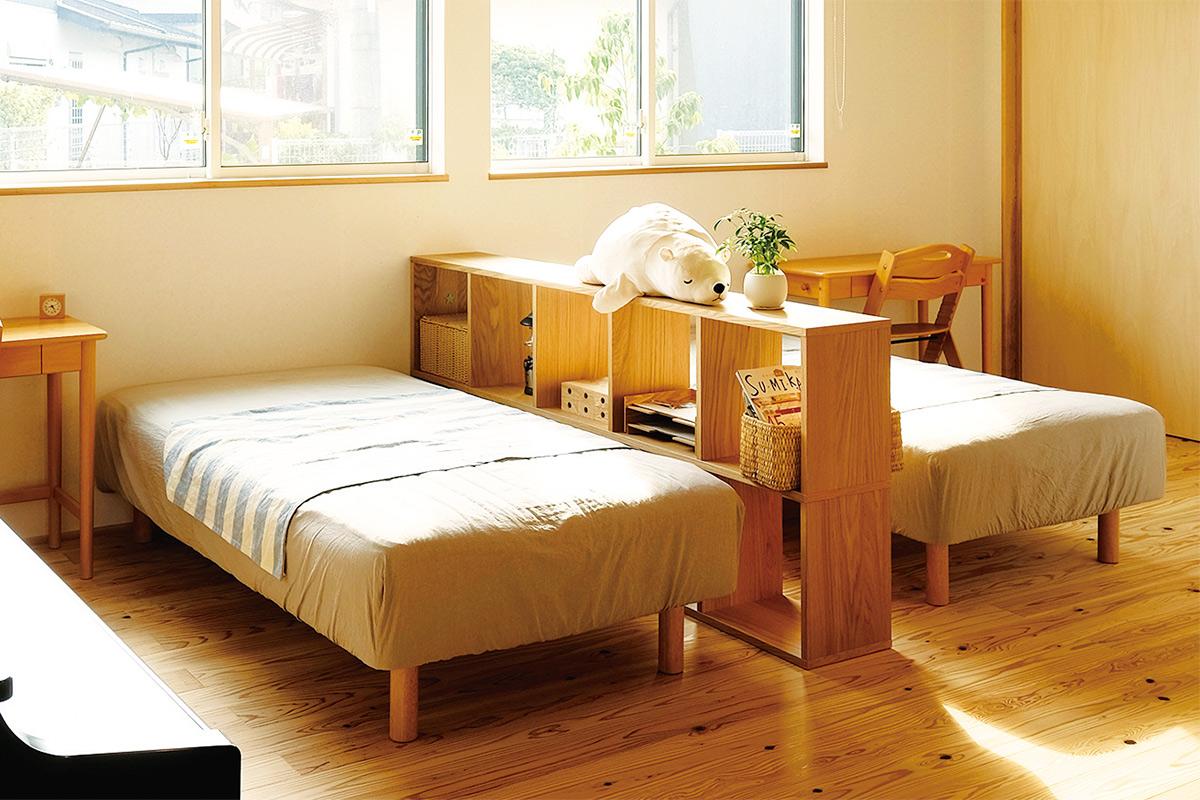 リビング奥のスペースは子供室。将来仕切り扉などを設置することも可能