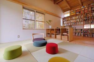 ライフスタイルに合わせて家具で間取りを変えられる