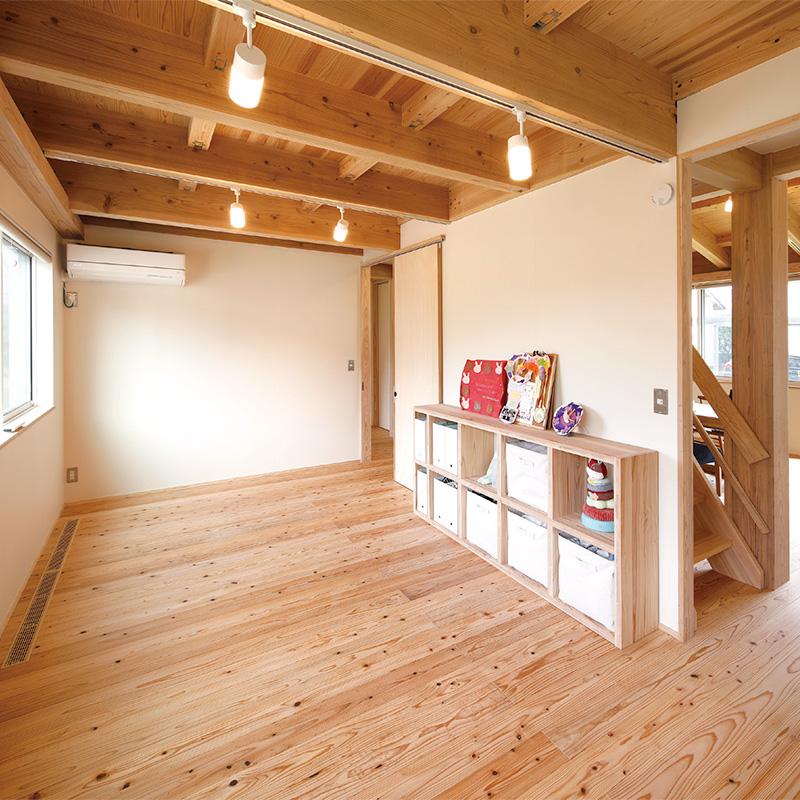 部屋の使用用途を定めないフレキシブルな空間構成